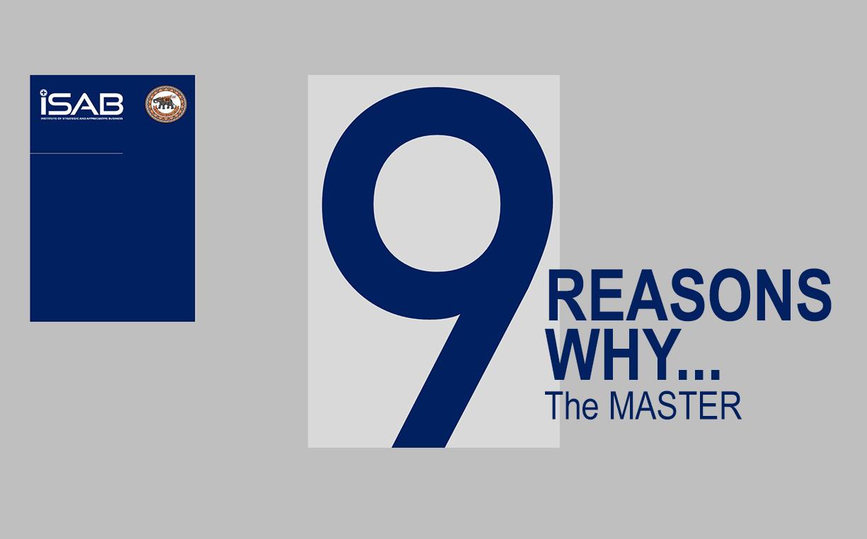 9 เหตุผลทำไมต้องหลักสูตร The MASTER